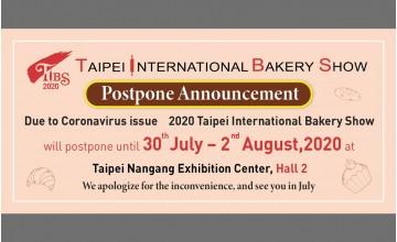 Postponing notification of Taipei International Bakery Show